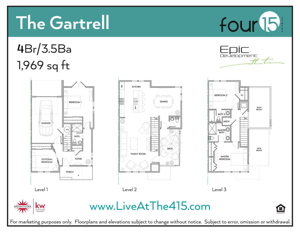 Four 15 stacks 24 new townhomes in atlanta for Floor plan agreement